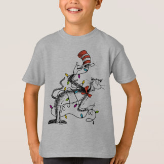 Dr Seuss | The Grinch | Mischievous Cat in the Hat T-Shirt