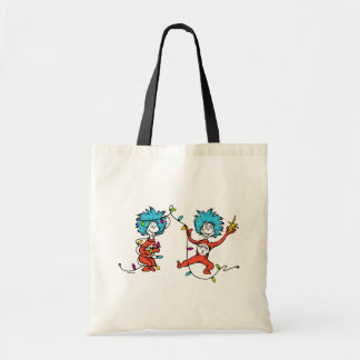 Dr Seuss | The Grinch | Thing 1 & Thing 2 Dancing Tote Bag