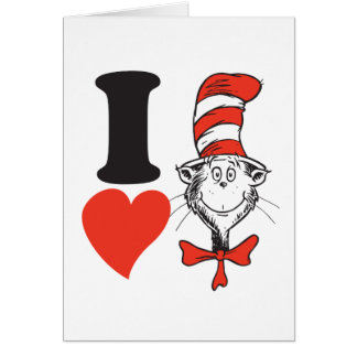Dr. Seuss Valentine | I Heart the Cat in the Hat Card