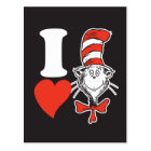 Dr. Seuss Valentine | I Heart the Cat in the Hat Postcard