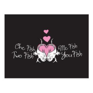 Dr. Seuss Valentine | One Fish Two Fish Postcard