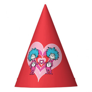 Dr. Seuss Valentine | Thing 1 Thing 2 Party Hat
