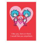 Dr. Seuss Valentine | Thing 1 Thing 2 Postcard