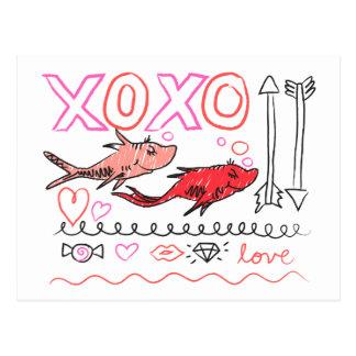 Dr. Seuss Valentine | XOXO Postcard