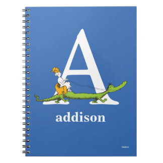 Dr. Seuss's ABC: Letter A - White | Add Your Name Spiral Notebook