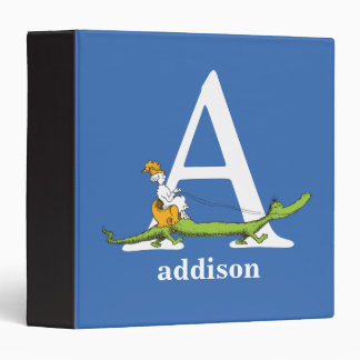 Dr. Seuss's ABC: Letter A - White | Add Your Name Vinyl Binders
