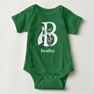 Dr. Seuss's ABC: Letter B - White | Add Your Name Baby Bodysuit