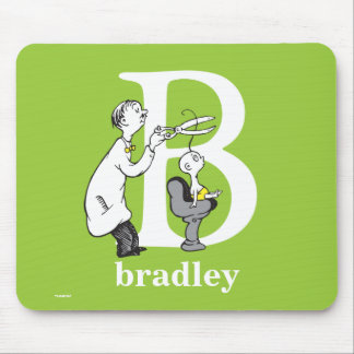Dr. Seuss's ABC: Letter B - White   Add Your Name Mouse Pad