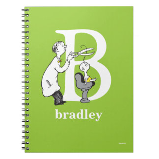 Dr. Seuss's ABC: Letter B - White   Add Your Name Notebook