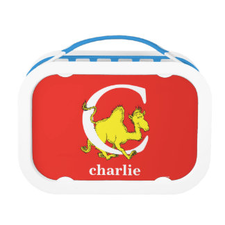 Dr. Seuss's ABC: Letter C - White | Add Your Name Lunch Box
