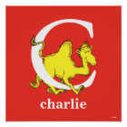 Dr. Seuss's ABC: Letter C - White | Add Your Name Poster