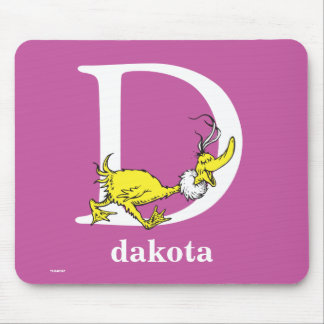 Dr. Seuss's ABC: Letter D - White   Add Your Name Mouse Pad