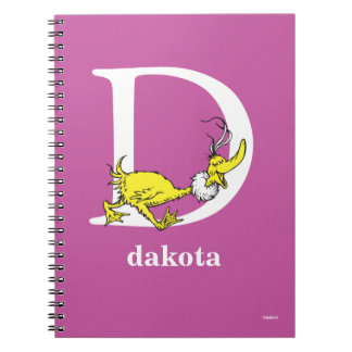 Dr. Seuss's ABC: Letter D - White | Add Your Name Notebook