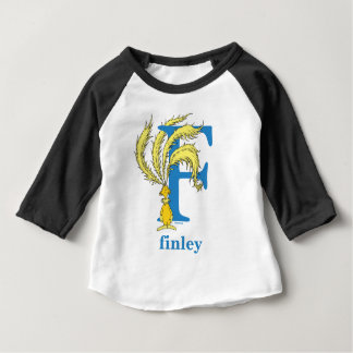 Dr. Seuss's ABC: Letter F - Blue | Add Your Name Baby T-Shirt