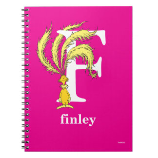 Dr. Seuss's ABC: Letter F - White | Add Your Name Note Book