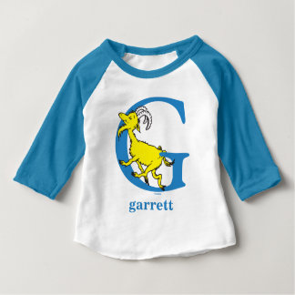 Dr. Seuss's ABC: Letter G - Blue   Add Your Name Baby T-Shirt