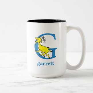 Dr. Seuss's ABC: Letter G - Blue | Add Your Name Two-Tone Coffee Mug