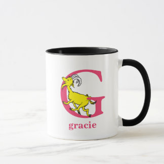 Dr. Seuss's ABC: Letter G - Pink | Add Your Name Mug