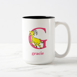 Dr. Seuss's ABC: Letter G - Pink | Add Your Name Two-Tone Coffee Mug