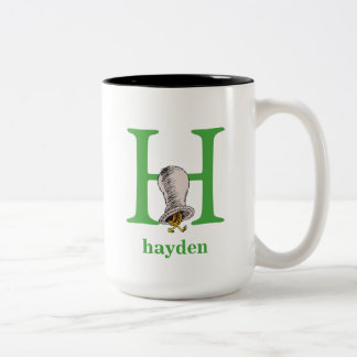 Dr. Seuss's ABC: Letter H - Green | Add Your Name Two-Tone Coffee Mug
