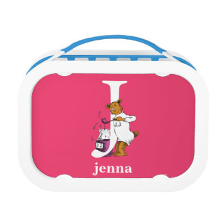 Dr. Seuss's ABC: Letter J - White | Add Your Name Lunch Box