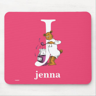 Dr. Seuss's ABC: Letter J - White   Add Your Name Mouse Pad