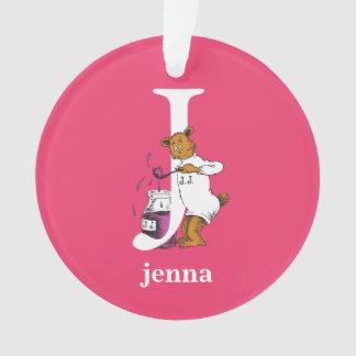 Dr. Seuss's ABC: Letter J - White | Add Your Name Ornament