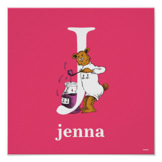 Dr. Seuss's ABC: Letter J - White | Add Your Name Poster