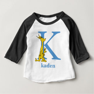 Dr. Seuss's ABC: Letter K - Blue   Add Your Name Baby T-Shirt