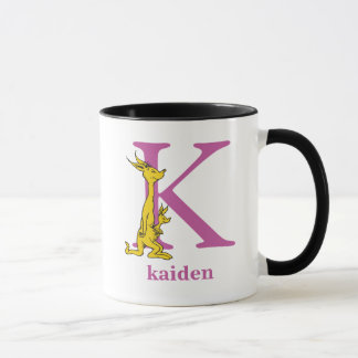 Dr. Seuss's ABC: Letter K - Purple | Add Your Name Mug
