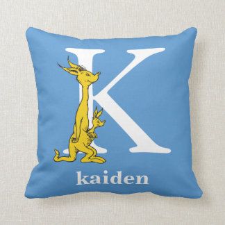 Dr. Seuss's ABC: Letter K - White | Add Your Name Throw Pillow