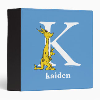 Dr. Seuss's ABC: Letter K - White | Add Your Name Vinyl Binder