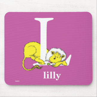 Dr. Seuss's ABC: Letter L - White | Add Your Name Mouse Pad