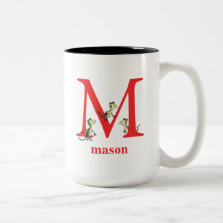 Dr. Seuss's ABC: Letter M - Red | Add Your Name Two-Tone Coffee Mug