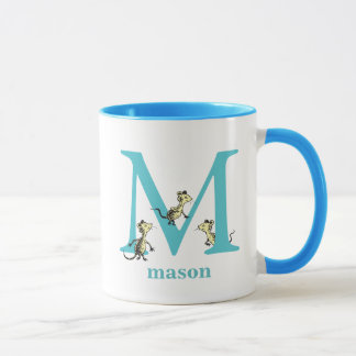 Dr. Seuss's ABC: Letter M - Teal | Add Your Name Mug