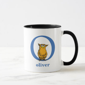 Dr. Seuss's ABC: Letter O - Blue | Add Your Name Mug