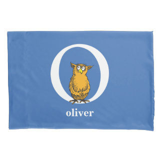 Dr. Seuss's ABC: Letter O - White | Add Your Name Pillowcase