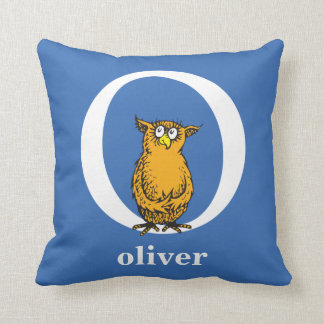 Dr. Seuss's ABC: Letter O - White | Add Your Name Throw Pillow