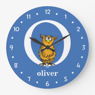 Dr. Seuss's ABC: Letter O - White | Add Your Name Wall Clock