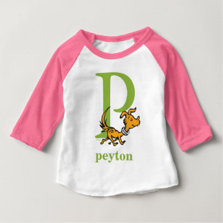 Dr. Seuss's ABC: Letter P - Green | Add Your Name Baby T-Shirt