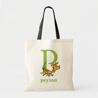 Dr. Seuss's ABC: Letter P - Green | Add Your Name Tote Bag