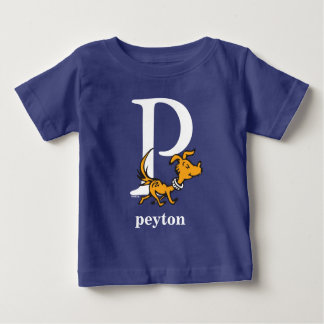 Dr. Seuss's ABC: Letter P - White   Add Your Name Baby T-Shirt