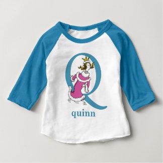 Dr. Seuss's ABC: Letter Q - Blue   Add Your Name Baby T-Shirt