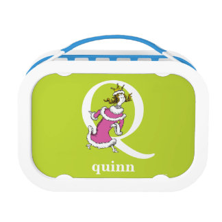 Dr. Seuss's ABC: Letter Q - White | Add Your Name Lunch Box