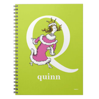 Dr. Seuss's ABC: Letter Q - White | Add Your Name Spiral Note Books