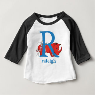 Dr. Seuss's ABC: Letter R - Blue | Add Your Name Baby T-Shirt