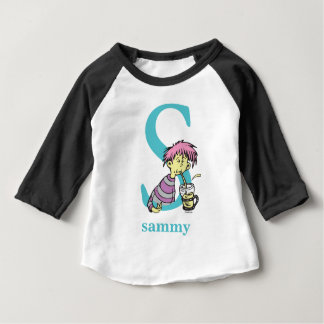 Dr. Seuss's ABC: Letter S - Blue   Add Your Name Baby T-Shirt