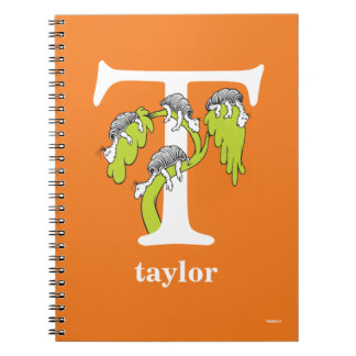 Dr. Seuss's ABC: Letter T - White | Add Your Name Spiral Notebook