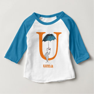 Dr. Seuss's ABC: Letter U - Orange | Add Your Name Baby T-Shirt