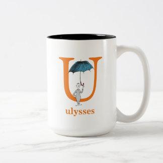 Dr. Seuss's ABC: Letter U - Orange | Add Your Name Two-Tone Coffee Mug